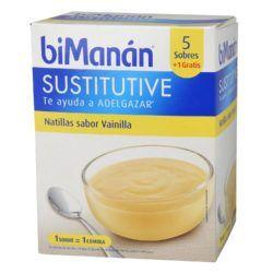 biManán® Sustitutive natillas vainilla 5 sobres