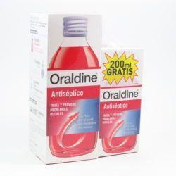 Oraldine colutorio antiséptico 400ml+200ml-0