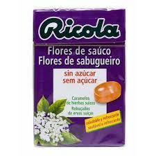 Ricola flor de saúco caramelos sin azúcar 50g