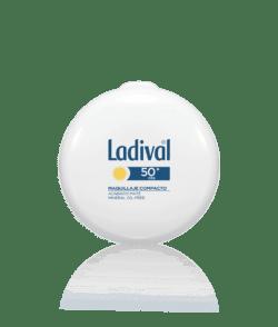 Ladival protector solar FPS 50+ maquillaje compacto dorado-0