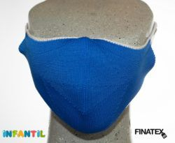Mascarilla infantil azul finatex-0