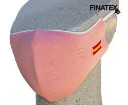 Mascarilla adulto rosa bandera España-0
