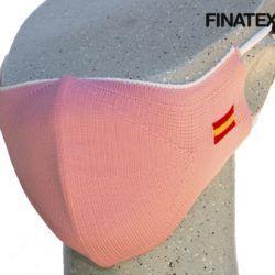 Mascarilla adulto rosa bandera España
